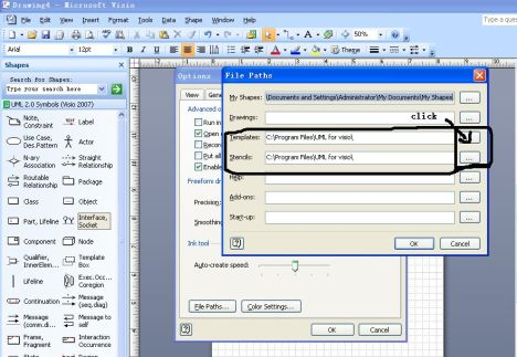 How to add UML template into MS visio2007   office 2007 for you